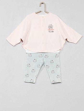 Ensemble cape t shirt pantalon `Marie`