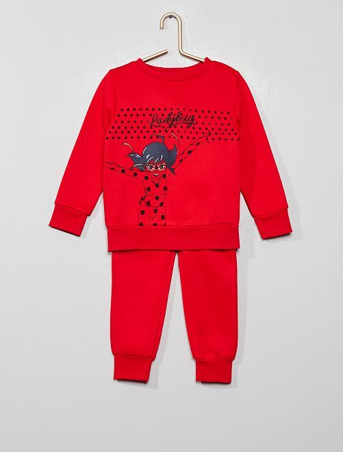 Ensemble de jogging 'Miraculous'                                         rouge Fille