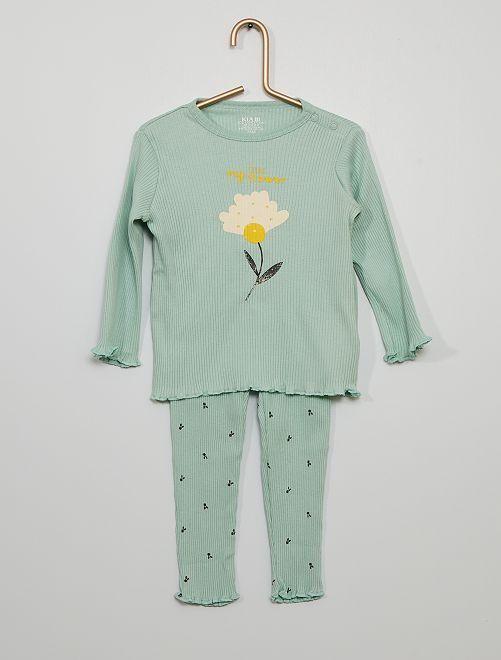 Ensemble de pyjama éco-conçu                             vert