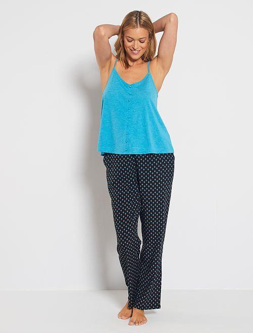 Ensemble de pyjama imprimé                                         bleu/noir