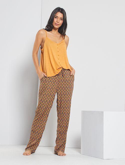 Ensemble de pyjama imprimé                                         orange
