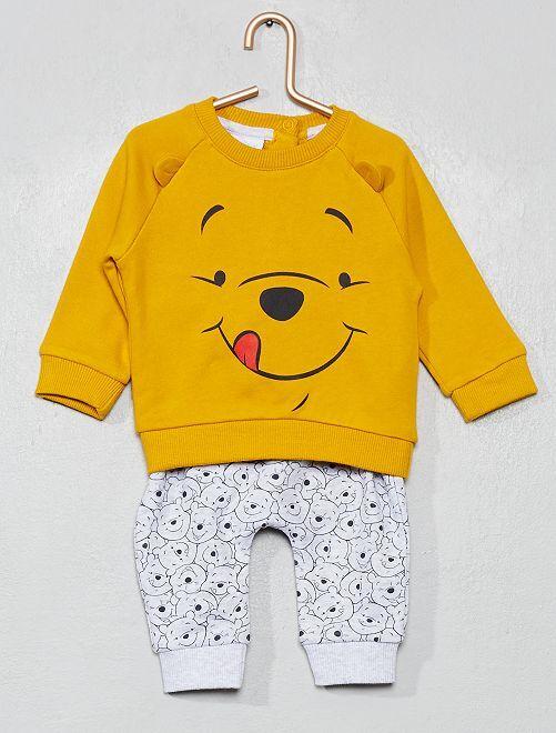 Ensemble 'Disney' sweat et pantalon                             jaune/gris