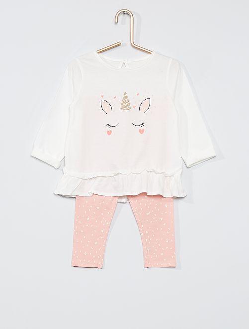 Ensemble éco-conçu                                                                             blanc licorne/rose