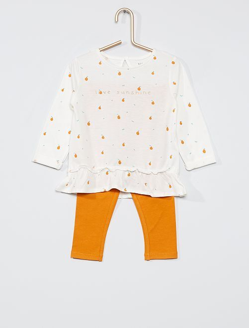 Ensemble éco-conçu                                                                 blanc/orange