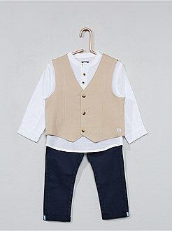 Ensemble gilet + chemise + pantalon - Kiabi