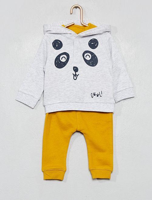 Ensemble jogging                                                     panda/gris/jaune