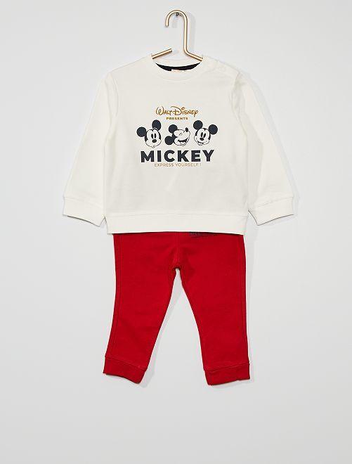 Ensemble 'Mickey' éco-conçu                                         blanc/rouge