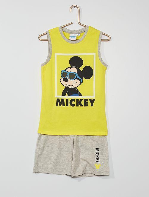 Ensemble 'Mickey'                             jaune/gris