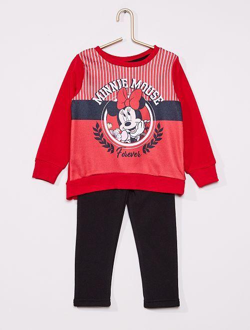 Ensemble 'Minnie' en molleton                                         rouge/bleu