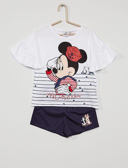 Ensemble 'Minnie Mouse'                                         blanc/bleu