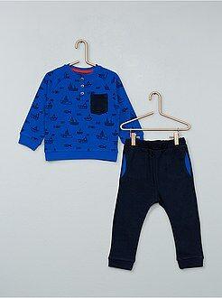 Garçon 0-36 mois Ensemble pantalon + sweat