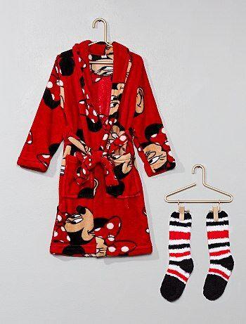 Ensemble peignoir et chaussettes `Minnie`