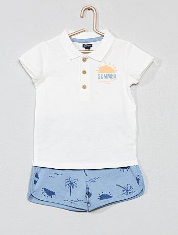 d6291cd93a148 Garçon 0-36 mois - Ensemble polo + short  summer  - Kiabi