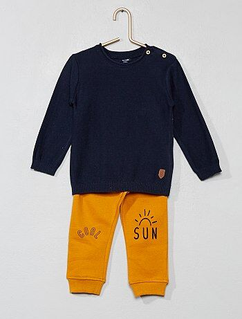 Garçon 0-36 mois - Ensemble pull + pantalon - Kiabi 4222b6e50fc