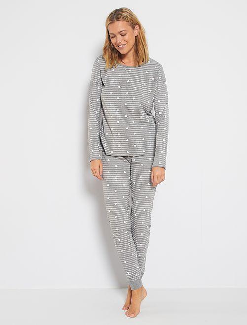 Ensemble pyjama coton bio                             gris