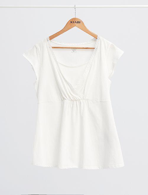 Ensemble pyjama de maternité 'éco-conception'                                         blanc