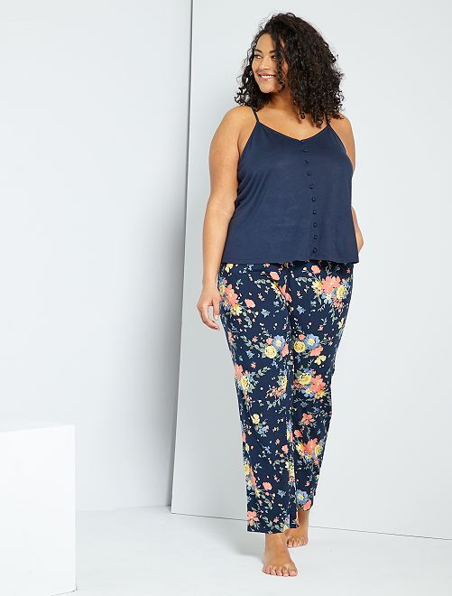 Ensemble pyjama fleuri                             bleu