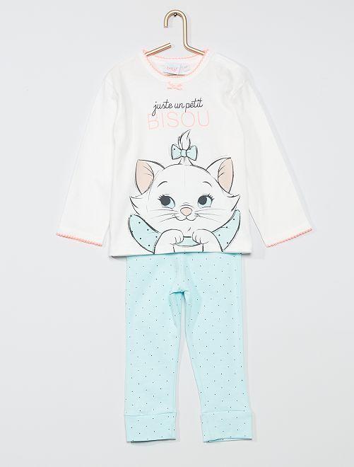 Ensemble pyjama 'Marie' des 'Aristochats'                             blanc/bleu