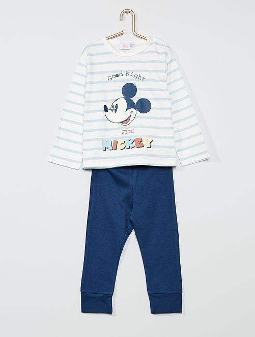 Ensemble pyjama 'Mickey' de 'Disney'                                         blanc/bleu