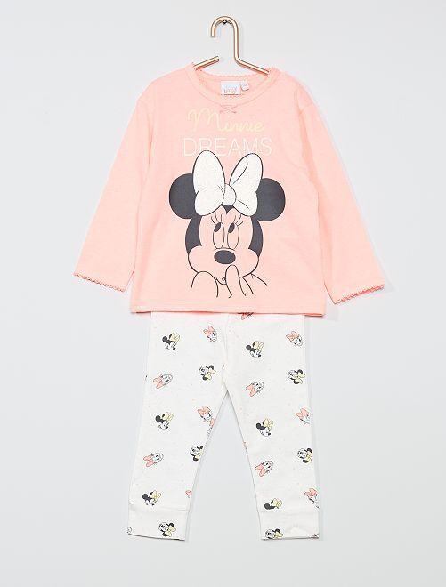 Ensemble pyjama 'Minnie' de 'Disney'                                         blanc/rose
