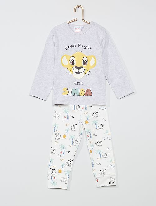 Ensemble pyjama 'Simba' de 'Disney'                                         gris/blanc