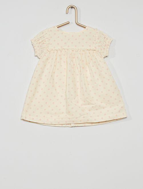 Ensemble robe + bloomer                                         blanc