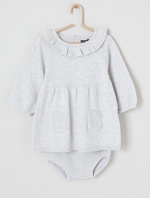 Ensemble robe + bloomer                                         gris