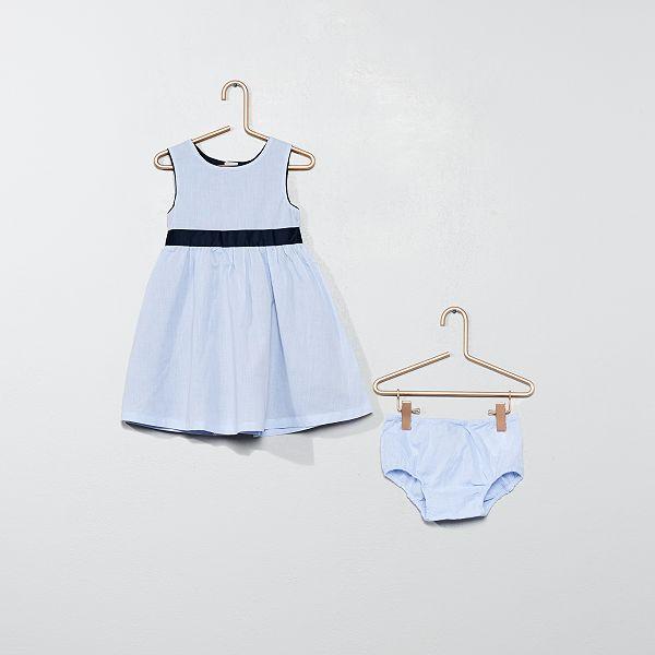 Ensemble Robe Et Culotte Bebe Fille Bleu Kiabi 15 00