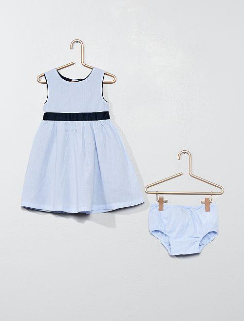 Ensemble robe et culotte                             bleu Bébé fille