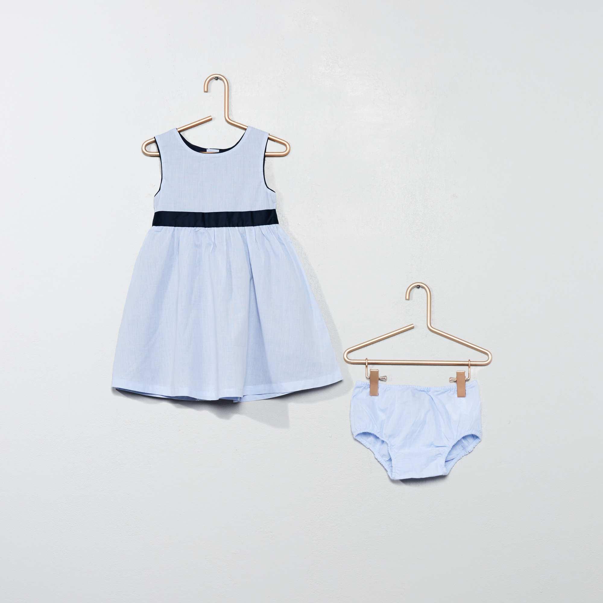 329f3b62442ca Ensemble robe et culotte Bébé fille - bleu - Kiabi - 15