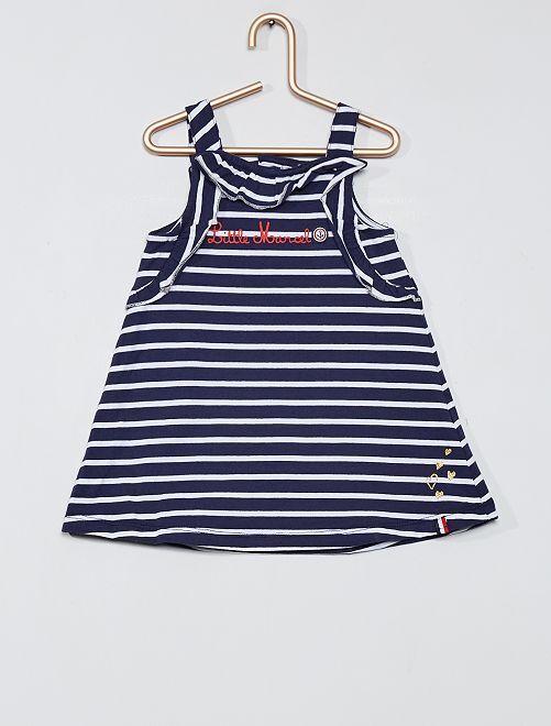 Ensemble robe et culotte 'Little Marcel'                             bleu/blanc