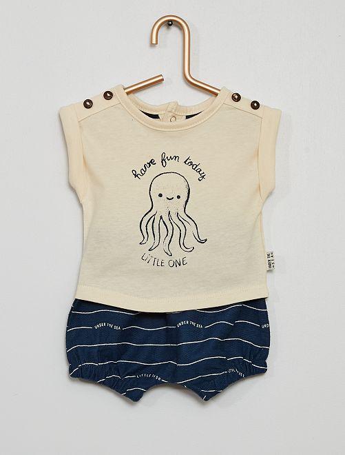 Ensemble short + t-shirt                                         BLEU