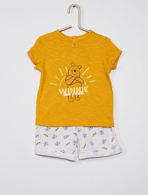 Ensemble short + t-shirt 'Winnie' 'Disney'                             jaune