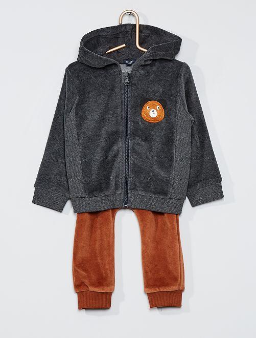 Ensemble sweat et pantalon                                         gris/marron