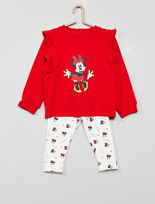 Ensemble sweat + legging 'Minnie'                             rouge Bébé fille