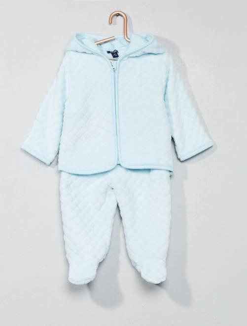 Ensemble sweat + pantalon                                         bleu ciel Bébé garçon