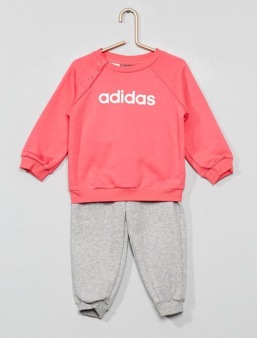 Ensemble sweat + pantalon de jogging 'adidas'                             rose/gris chiné Bébé fille