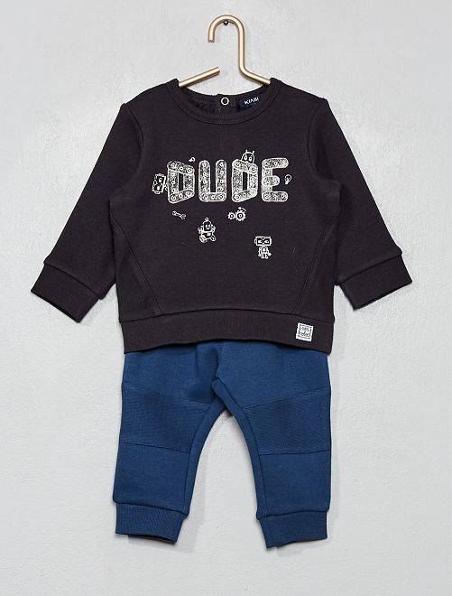 Ensemble sweat + pantalon                     noir/bleu marine