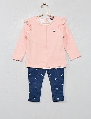 f4155c793663a Fille 0-36 mois - Ensemble sweat + t-shirt + jegging - Kiabi