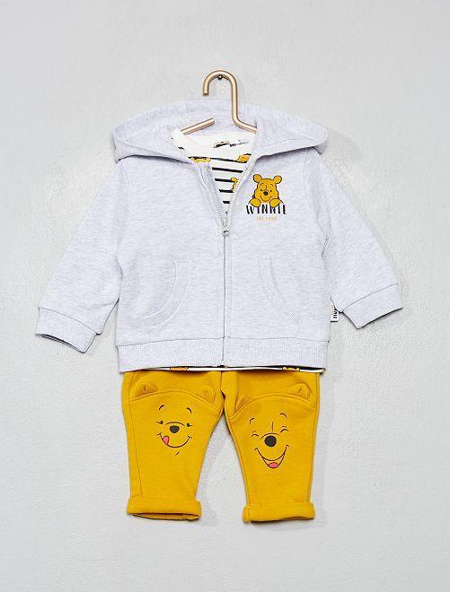 Ensemble sweat + T-shirt + pantalon 'Winnie'                             gris