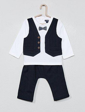 a82580d226b35 Garçon 0-36 mois - Ensemble t-shirt 2 en 1 + pantalon -