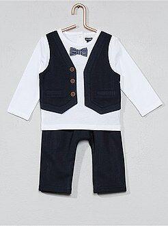 Garçon 0-36 mois - Ensemble t-shirt effet 2 en 1 + pantalon - Kiabi
