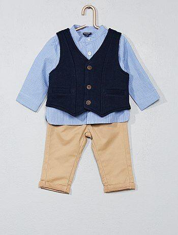 Ensemble t-shirt + gilet + pantalon - Kiabi