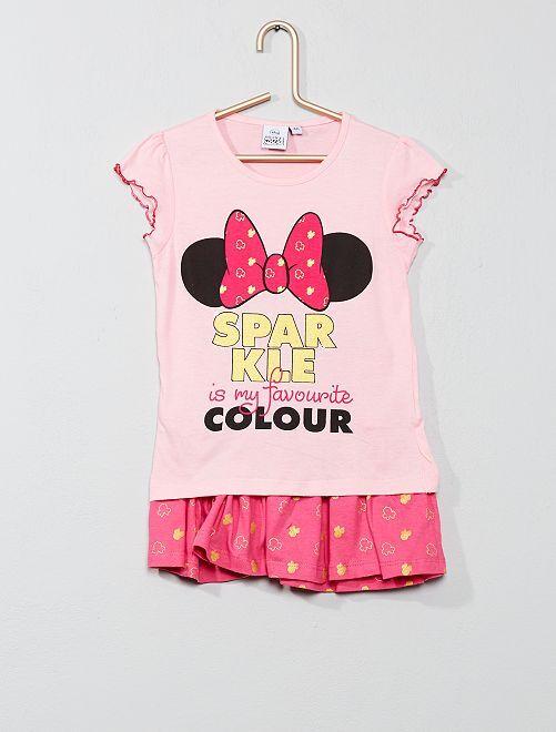 Ensemble t-shirt + jupe 'Minnie'                     rose Fille