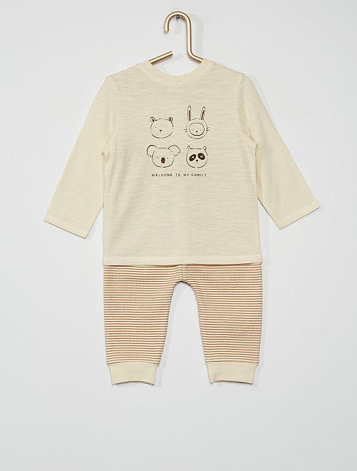 Ensemble t-shirt + legging                             écru