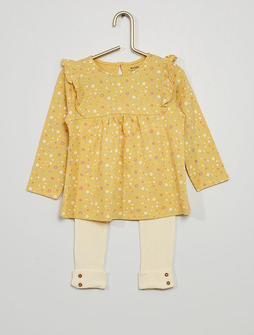 Ensemble T-shirt + legging                                                         jaune