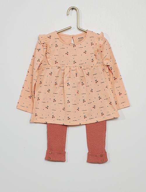 Ensemble T-shirt + legging                                                                             rose