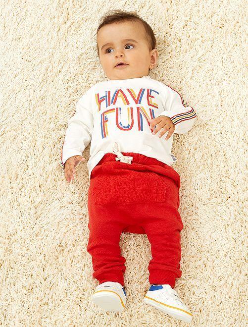 Ensemble t-shirt + pantalon                             écru Bébé garçon