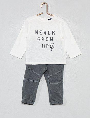3450ba96ee2 Ensemble t-shirt + pantalon - Kiabi