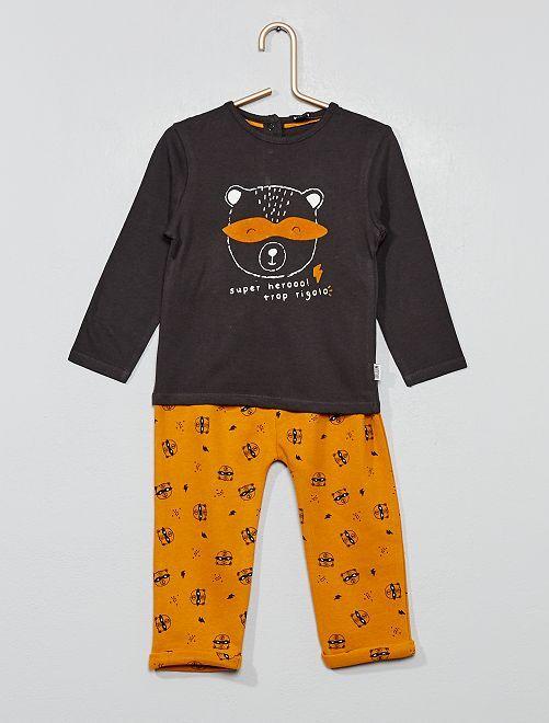 Ensemble t-shirt + pantalon                                                                 gris ours Bébé garçon